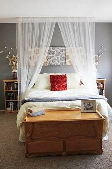 Bedroom Ideas Cheap And Easy by Curtain As Backboard Easy And Cheap Home Decor Within