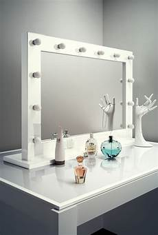 high gloss white makeup dressing room mirror