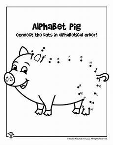 animal dot to dot worksheets 13841 farm pig alphabet connect the dots woo jr activities