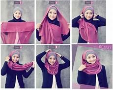 Cara Memakai Jilbab Segi Empat Simple Dan Cantik Model