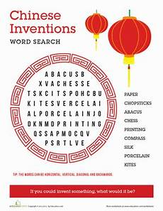 china worksheets for elementary 19428 inventions worksheet education