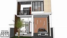 Desain Rumah 6 X 10 Meter 2 Lantai