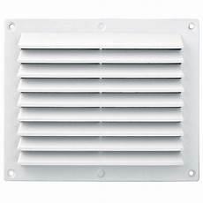 grille ventilation rectangulaire pvc anti pluie 175x146mm
