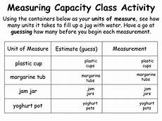 measurement worksheets non standard units 1535 measuring capacity using non standard units animated powerpoint presentation and worksheet by