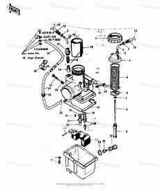 Kawasaki Motorcycle 1973 Oem Parts Diagram For Carburetor