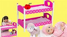 dimples dolls bunk bed baby annabell baby born baby dolls