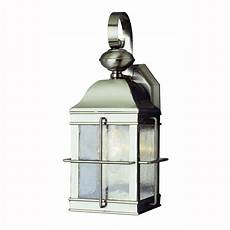bel air lighting 1 light brushed nickel outdoor wall coach lantern with seeded glass 4632 bn