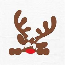 rudolph weihnachten rentier svg rentier gesicht svg