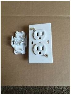 15 125 volt quick connect dual outlet receptacle white cer trailer rv nos ebay