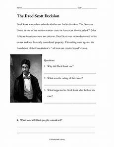 dred scott decision worksheet the dred scott decision worksheet for 4th 5th grade lesson planet