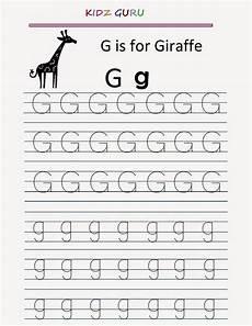kindergarten worksheets printable tracing worksheet alphabet g g