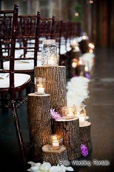 wood slices and stumps for weddings