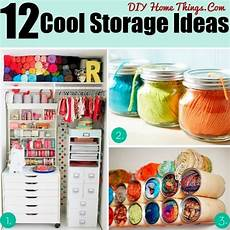12 cool ideas for storage and organization in your craft