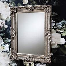 ornate antique silver wall mirror by primrose plum