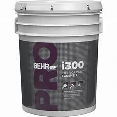 behr pro 5 gal i300 white eggshell interior paint pr33005 the home depot