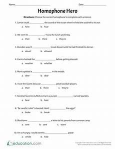 spelling worksheets homophones 22404 homophone