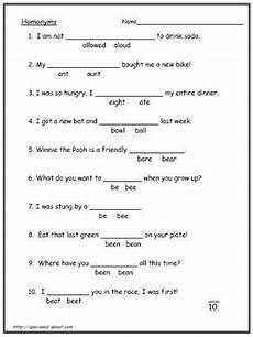 homophones worksheets 18301 homonyms homophone worksheets