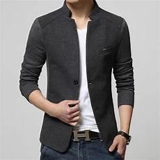 new high quality casual patchwork blazer slim fit
