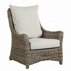 fauteuil rotin kooboo gris transat