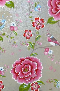 pip birds in paradise khaki wallpaper traditional 2