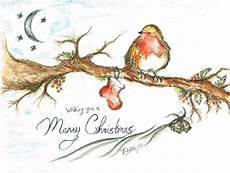merry christmas robin painting by teresa white