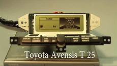 toyota avensis t25 multi informationsdisplay navigation