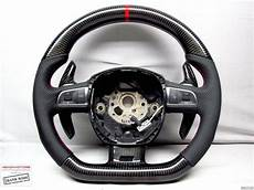carbon steering wheel audi s8 a8 q7 rs6 s6 s5 rs5 s4 ring flat bottom thick ebay