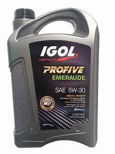 Igol Huile 5w30 Profive Emeraude 5l Lubrifiants