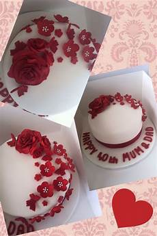 Ruby Wedding Anniversary Cake Ideas