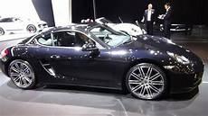 2016 Porsche Cayman Black Edition Auto Show Brussels