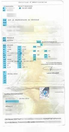 Comment Lire Une Carte Grise Certificat D Immatriculation
