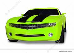 Auto Transport Neon Green Sports Car  Stock Picture