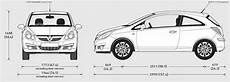 2009 Vauxhall Corsa 3 Door Hatchback Blueprints Free