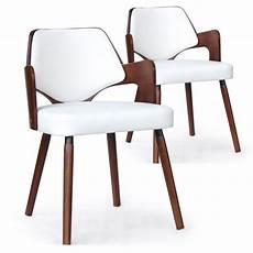 chaises scandinave simili cuir gris mias noisette et blanc