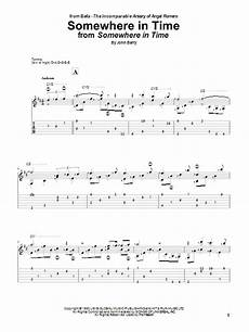 somewhere in time guitar tab by romero guitar tab 83850