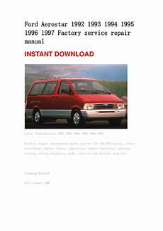 online auto repair manual 1996 ford aerostar transmission control ford aerostar 1992 1993 1994 1995 1996 1997 repair manual