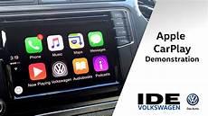 apple carplay radio apple carplay demonstration in 2016 vw ide volkswagen