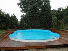 Holzterrassen Holzterrasse Umrandung Swimming Pool