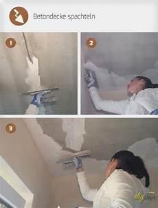 wie streicht eine decke betondecke spachteln selber machen betondecke verputzen und kellerw 228 nde bemalen