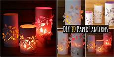 Coole Laterne Basteln - creative diy make your own colorful 3d paper lanterns