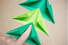 make an easy origami tree garland hgtv