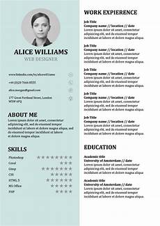 resume template creative cv doc word free