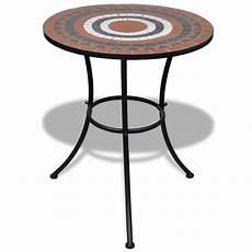 Mosaic Table 60 Cm Terracotta White Vidaxl Co Uk