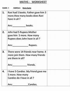 subtraction word problems worksheets for grade 1 10465 story sum class 1 maths worksheet math worksheet class 1 maths 1st grade math worksheets