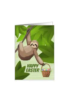 Sloth Easter Basket Ideas Everyday Savvy General Greeting Cards For The Easter