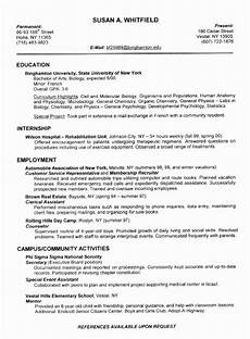 resume exles by industry and title student resume