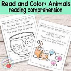 animals phonics worksheets for kindergarten 14220 animals read and color reading comprehension worksheets grade 1 kindergarten