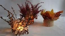 Bastelideen Im Herbst Teelichter Dekorieren