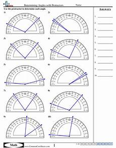 free angle measurement worksheets 1993 determining angles with protractors worksheet angles worksheet math worksheets angles math