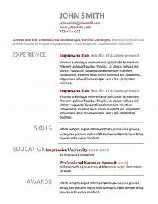 7 simple resume templates free download best professional resume templates